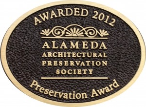 AAPS Preservaton Award Plaque